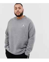 Nike - Nike Plus Logo Sweatshirt In Grey 940170-091 - Lyst