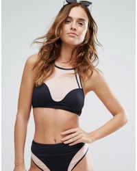 Evil Twin - Illusion Mesh Bikini Top - Lyst