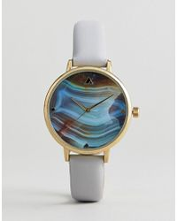 ASOS - Watch With Stone Slice Print - Lyst