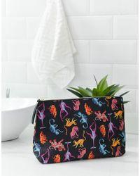 Monki - Monkey Print Make Up Bag - Lyst