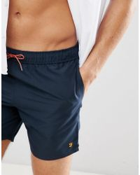 Farah - Colbert Logo Swim Shorts In Navy - Lyst