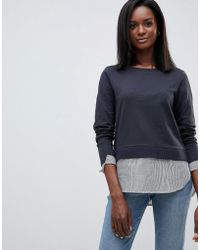Oasis - 2-in-1 Jumper With Shirting Detail - Lyst
