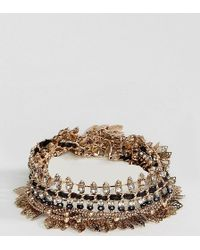 ALDO | Gold Leaf Statement Bracelets | Lyst