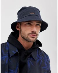 Barbour Irvine Wax Bucket Hat In Navy