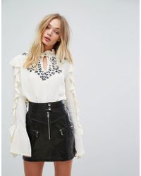 Millie Mackintosh - Frill Blouse - Lyst