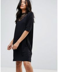 Y.A.S - Busy Lace High Neck Shift Dress - Lyst