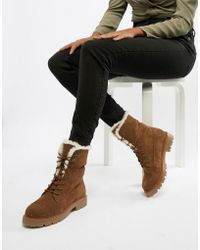 ASOS - Apex Suede Hiker Lace Up Boots - Lyst