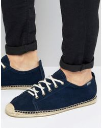 Soludos - Suede Lace Up Espadrilles - Lyst