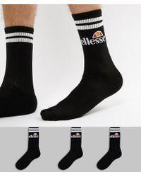 Ellesse - Pullo 3-pack Socks In Black - Lyst