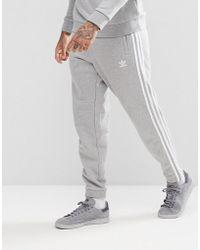 adidas Originals - Adicolor 3-stripe Joggers In Gray Cy4569 - Lyst