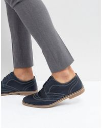Red Tape | Brogues Navy Leather | Lyst