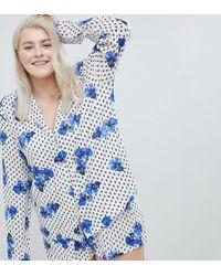 ASOS - Asos Design Curve Pansy Traditional 100% Modal Short Pyjama Set - Lyst