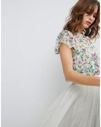 Needle & Thread - Daisy Embroidered Top - Lyst