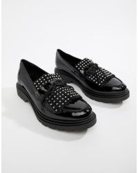 31bedd3852a ALDO - Nydiradda Leather Stud Chunky Loafers - Lyst