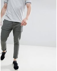 Solid - Utility Pants In Dark Khaki - Lyst