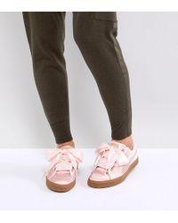 PUMA - Basket Heart Velvet Sneakers - Lyst