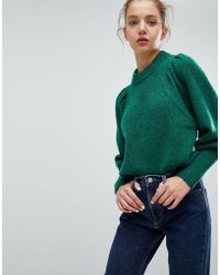 Weekday - Mohair Crop Knit Jumper With Shoulder Detail - Lyst