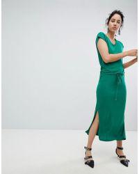 ba05cb1d070 Lyst - B.Young Maxi T-shirt Dress in Green