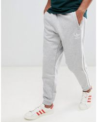 adidas Originals - 3-stripe Joggers In Grey Dh5802 - Lyst