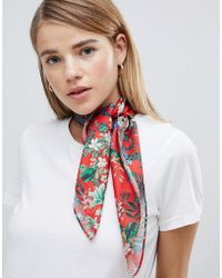 Weekday - Silky Scarf With Double Sided Print - Lyst