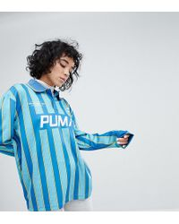 PUMA - Exclusive To Asos Football Jersey In Blue - Lyst