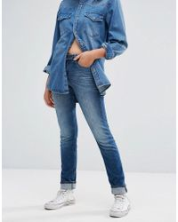 Lee Jeans - Elly Slim Straight Mid Rise Jeans - Lyst