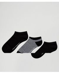 French Connection - 3 Pack Trainer Socks - Lyst