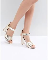 Love Moschino - Heart Buckle Heeled Sandal - Lyst