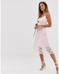 Ted Baker Кружевное Платье Миди Bridal Premium - Розовый - Многоцветный