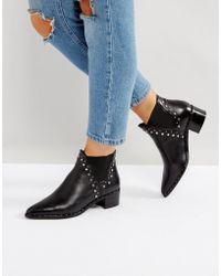 Steve Madden - Doruss Leather Studded Boots - Lyst