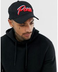 dc6fb9fb604c1 Lyst - ASOS Baseball Cap With Hotdog Embroidery In Black in Black ...