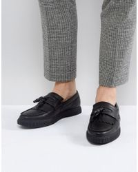 ASOS - Asos Loafers In Black With Creeper Sole - Lyst