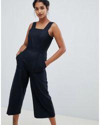 Closet - Tailored Culotte Jumpsuit - Lyst