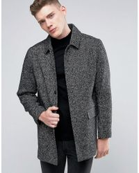 Native Youth - Wool Twill Overcoat - Lyst