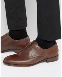 Red Tape - Lace Up Smart Shoes In Brown Leather - Lyst