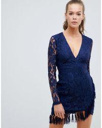 AX Paris - Lace Dress With Tassle Detail - Lyst