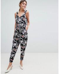 Oasis - Tropical Print Jumpsuit - Lyst