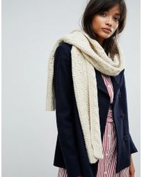 Warehouse - Cable Knit Scarf - Lyst