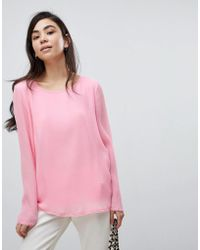 Soaked In Luxury - Pleated Blouse - Lyst
