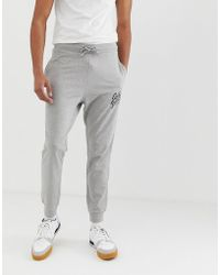 c12de277 Champion Joggers With Small Logo in Gray for Men - Lyst