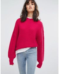 Weekday - Waffle Knit Sweater - Lyst