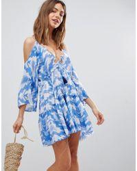 Surf Gypsy - Aztec Cut Out Beach Dress - Lyst