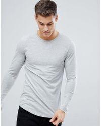 Jack & Jones | Premium Long Sleeve Longline T-shirt | Lyst