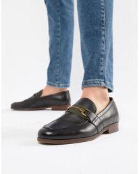 ALDO - Gwiradien Bar Loafers In Black Leather - Lyst