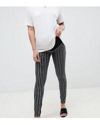 ASOS - Asos Design Maternity Skinny Ponte Pinstripe Trousers - Lyst