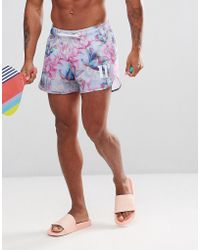 11 Degrees - Short de bain à fleurs - Lyst