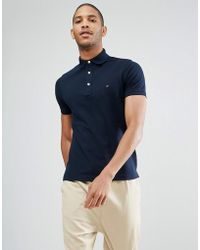 Tommy Hilfiger - Slim Fit Polo In Navy - Lyst