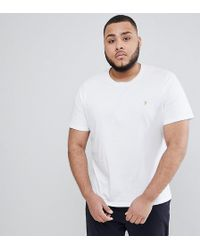 Farah - Plus Farris Slim Fit T-shirt In White - Lyst