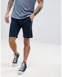 Farah - Hawk Chino Twill Shorts In True Navy - Lyst