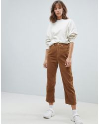 Weekday - Tapered Cord Trousers - Lyst